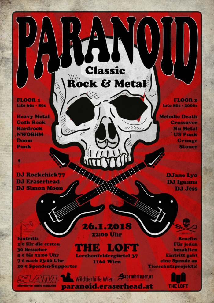 Paranoid - Viennas biggest Classic-Rock & -Metal Party 1